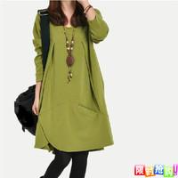 Autumn new arrival 2013 mm elegant plus size clothing slim basic skirt long-sleeve dress autumn and winter