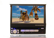 Hd 7 general single spindle car dvd machine navigation one piece machine manual retractable gps