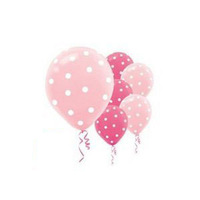 "100 ct Round Helium Quality 12"" Pink Polka Dot Balloons For wedding Birthday Party Decorations"