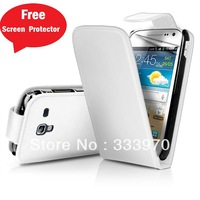 SMART PU FLIP Leather Cover Pouch Case For Samsung I8160 Galaxy Ace 2 II Free Screen Protector+ Free Shipping