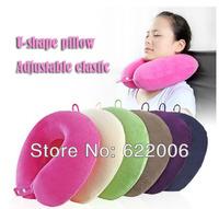 free shipping,U-shape, memory pillow, cervical vertebra, large, massage, adjustable elastic, 30 * 30 * 10.5 cm