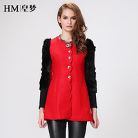2013 autumn women's fashion slim woolen overcoat autumn and winter elegant woolen outerwear