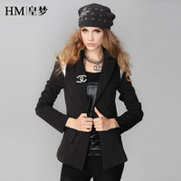 2013 women's autumn fashion collar suit one button small suit jacket