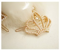 Hair accessory full rhinestone pearl mini clip hairpin hair accessory