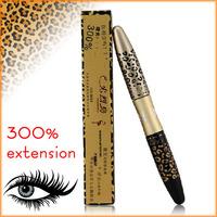 HOT Leopard Panther Lengthening Curving Waterproof Mascara 300% Extension Eyelash Eye Lash Transplanting Gel Fiber 8688