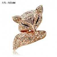 Fashion accessories exquisite fashion accessories gorgeous big fox crystal ring