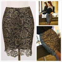 Women Elegant Floral Pencil Skirts High Waist Grunge Embroidery Flower Lace Casual Bodycon Skirt Vestidos Saia De Renda Faldas
