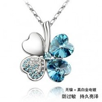 High quality accessories customize hot-selling crystal accessories four leaf clover necklace