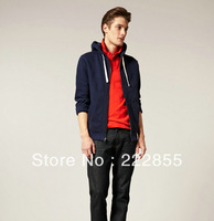 Free shipping!Who dress POLO men's casual hooded zipper Paul cardigan fleece/coat 0978