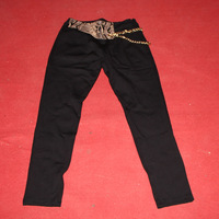 2013 leopard print decoration female trousers decoration pants harem pants skinny pants fashion trousers