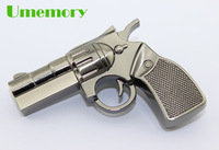 Retail real capacity 2GB 4GB 8GB 16GB 32GB simulation metal pistol gun usb flash drive pen drive usb stick Drop Free shipping