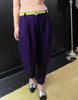 Fashion 2013 fashion female harem pants woolen trousers