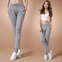 2013 women's pants high quality casual sports pants fashion slim knitted pants female trousers