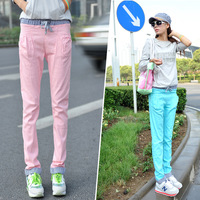 Trousers women's 2013 elastic waist harem pants fashion female candy pants casual pants female trousers
