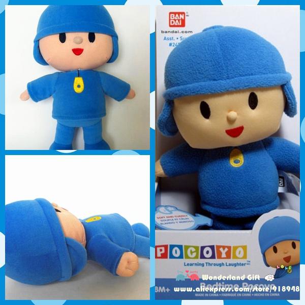Free shipping large size one piece retail 30cm Pocoyo BANDAI Soft Plush ELLY friend Stuffed Toy Doll kids birthday gift(China (Mainland))