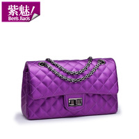 2013 fashion women's brand chain plaid small  handbag lady one shoulder cross-body small causal pu leather korean bag