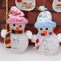 Christmas decoration supplies christmas tree child gift snowman with light