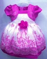 retail 1pcs/lot 2013 HOT Selling Children Kids Clothing Girls Dresses Flower Design Princess Wear NEW