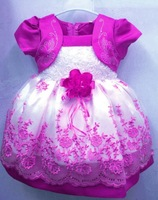 retail 1pcs/lot 2013 HOT Selling Children Kids Clothing Girls Dresses Flower Design Princess Wear NEW