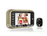 "Free shipping!Golden 3.5"" Monitor Door Doorbell Pee'phole Viewer Camera Photo Video DVR 120 degrees"