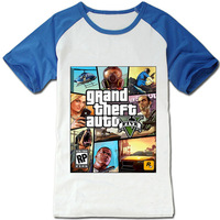 Gta t-shirt gta4 short-sleeve gta5 4 5 4 niko