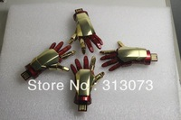 2013 limited edition The avengers Iron Man 3 left hand LED USB Flash Drive 1GB 2GB 4GB 8GB 16GB 32GB 64GB Free Shipping