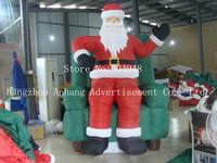 Christmas Inflatable Santa On Chair