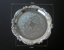 Wholesale 10pcs set High quality Metal Crafts Decorative Coffe Tea Cup Coaster With Embossed Edge and