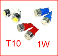 10X Led High Power T10 W5W 194 168 high power Car LED light Bulbs 1W car led lamp corner parking light white,new