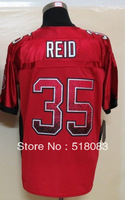 Free Shipping 2013 Men's 35 Eric Reid Red Elite Drift Fashion Cheap Football Jerseys Sewing logos Size:40-56
