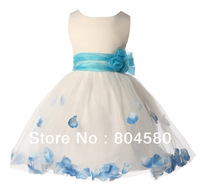2015 Hot Sale Free Shipping New Arrival Sleeveless Flower Girl Dress for Wedding Party Dress CL4607