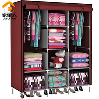 Double simple wardrobe cloth wardrobe oversize folding combination wardrobe fabric