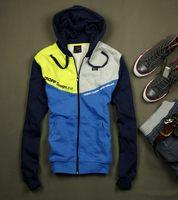 2013 autumn paragraph the trend cropp geometry color block with a hood cardigan sweatshirt hoodie Men