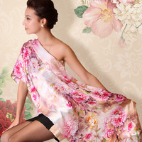 FREE SHIPPING silk scarf mulberry silk scarf spring and autumn female all-match silk scarf cape dual