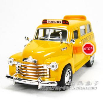 coches de juguete Chevrolet long soft world school bus WARRIOR alloy toy car model gift  carros de brinquedo