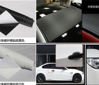 152*30CM/LOT Black White Color air drain free bubbles carbon fiber vinyl film sticker for DIY car wrapping