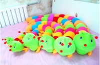 free shipping 50cm 20pcs/lot Colorful caterpillars millennium bug doll plush toys large caterpillar hold pillow doll