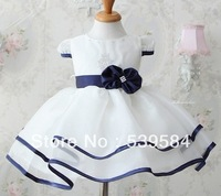 SHT126 1pcs/lot The summer of 2012 The new pure white bow princess dress free shipping