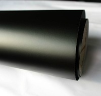 1.52*30M/Roll Black Color air drain free bubbles matt matte vinyl film sticker for car wrapping Free Shipping via Fedex