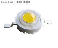1W LED Bulbs High power Lamp beads Warm White 350mA 3.2-3.4V 110-120LM 45mil Taiwan Genesis Chip  Free shipping