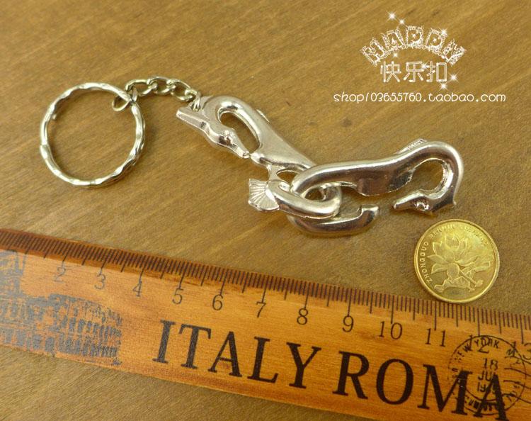 Intelligence unclasp Chinese puzzle luban ball hanayama box alloy toy belt key ring(China (Mainland))
