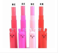 2013 Hot seling 1PC 4color  for choose  New Arrival Smal Rabbit plug-in card Makeup Lip Balm 3g.free shipping