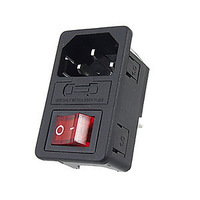 HIGH QUALITY Red Light Boat Rocker Switch Fused IEC 320 C14 Inlet Power Socket Connector Plug