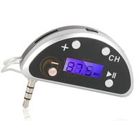 New Wireless FM Transmitter Remote Control LCD Shows for ipod/iPhone with Car Charger Free Shipping
