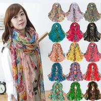 2014 scarf silk scarf fluid scarf cape large print fresh scarf