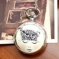 Free shipping wholesale dropship 2013 hot sale fashion Dream Girl Ceramic Pocket watch cartoon for women ladies children