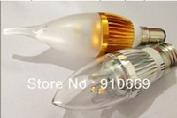 (10pcs/lot)100% new brand aluminum and PC 10* 3w LED candle bulb E14 free shipping inquiry now