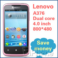 "Original Lenovo A376 SC8825 4.0"" Phone Dual Core CPU 4GB ROM 512MB RAM 3.2MP Camera Android 4.0 Mobile Phone GPS WIFI Z#"