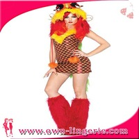 yellow furry trim Imperial Dragon costume hot sale fashion halloween sexy costumes