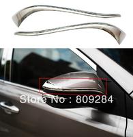 Free shipping! 2 pcs ABS chrome side mirror decoration strip for RAV4 2014
